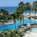 View of the pool/ocean from the 4th floor room