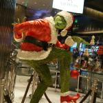 Grinch pastry sculpture at Jean-Philippe Patisserie