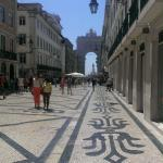 Rua Augusta - standing directly outside of the travellers hous