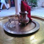 Fantastic hospitality. Enjoying a refreshing Moroccan tea.