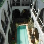 View of the plunge pool from the roof