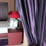 The rooms are decorated in royal style with large beds and wonderfully comfortable sheets and pi