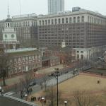 View of Independence Hall/park area