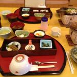 Our first Japanese breakfast at a hotel so sweet
