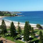 View of Coogee Beach from the balcony