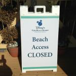 beach was closed