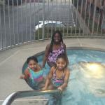 The girls in the jacuzzi!