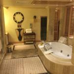 master bathroom in presidential suite