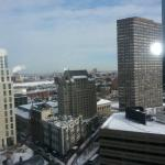 View from room on 22nd floor looking toward river