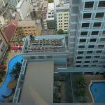 Pool seen from a high floor (right). Left is Caravelle hotel.