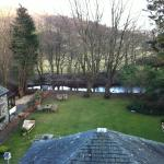 Grasmere Hotel - view of the garden and the river from our room