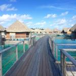 Heading to your private over the water bungalow