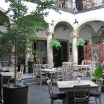 Courtyard dining area