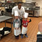 Making pizzas with Chef Hany!