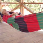 Resting in the deck hammpock