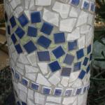 Detail of mosaic tiling on pillars