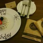 Complimentary Birthday Cake in our room with free warm and soft cookies upon arrival!! Mmmmm. :)