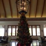 Christmas tree in the hotel lobby was beautiful!