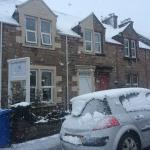 Exterior ... Apparently it rarely snows in Inverness, lucky us :)