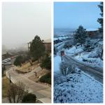 Two different views in 24 hrs