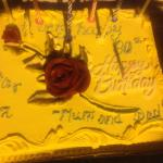 Birthday cake - made by the hotel