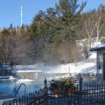 Outdoor pool (temperature was - 20C)