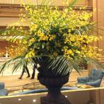 Floral arrangement in lobby