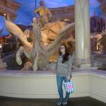 Me in front of fountain at Forum shops