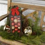Christmas Decorations on front porch
