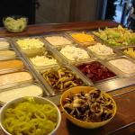 Salad Bar choices with our Lunch Buffet
