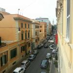 View from room - road to Termini station