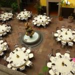 central courtyard - the night of a private party