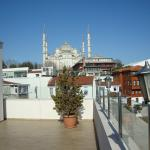 The Blue Mosque from the terrace