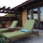 Private deck sunbathing and table area--opposite of the plunge pool (not seen). This was casita