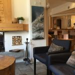 Sofas, open fire and bar area!