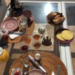 Breakfast at the roof terrace