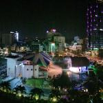 Panoramic view from balcony room during TET celebrations