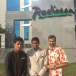 With Bell boy Subham and Duty Manager Arun Karthik