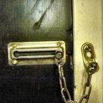 The lock on our door. The only other lock was a standard lock in the doorknob.