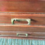 Front of dresser, dusty and a screw repair