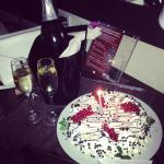 Champagne and caked arranged for my birthday