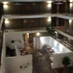 View of the middle of the hotel from 3rd floor.