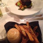 Short ribs and truffles pommes frites