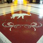 Logo on floor