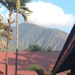 View from our front door of West Maui mountains.