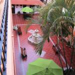 View of the hotel's inner courtyard
