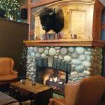 Buffalo Mountain Lodge lobby fireplace