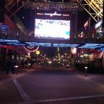 UK playing on the big screen at 4th Street Live