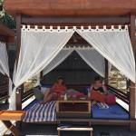 Book a cabana for the day 100,000 Rupiah (AUD$10)