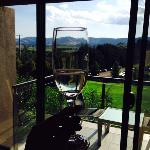 view from Balcony with complementary sparkling!